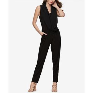 Bar III NWT Sleeveless Draped Black Jumpsuit